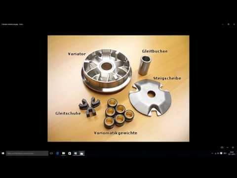 Erklärung des Antriebes und seiner Bauteile eines Roller