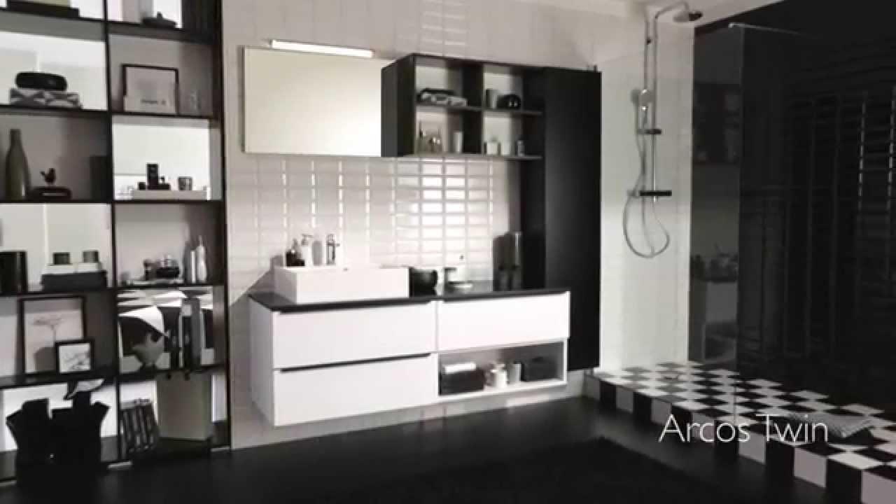 Kontrastfyldt badeværelse i sort/hvid   youtube