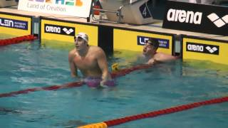 Men's 100m Breastroke Final European Short Course Swimming Championships - Netanya 2015