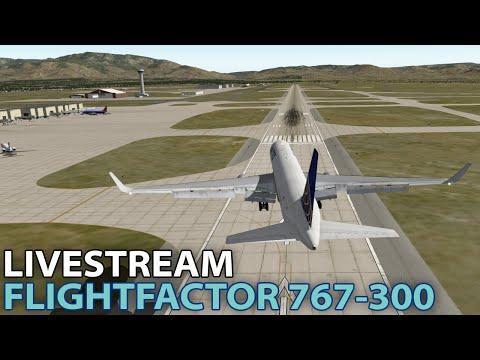 Livestream] FlightFactor Boeing 767-300 on PilotEdge in X-Plane 10