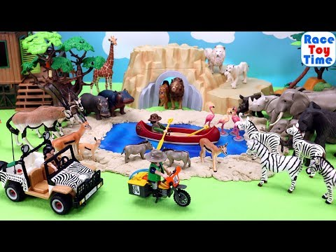 Fun Wild Animal Toys Safari Scenery For Kids