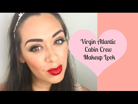 My Virgin Atlantic Cabin Crew make-up look | Tasha Parker
