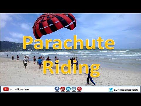 Beach Parachute Riding At Nagoa In Diu Island | Boat Parasailing | Boat Paragliding