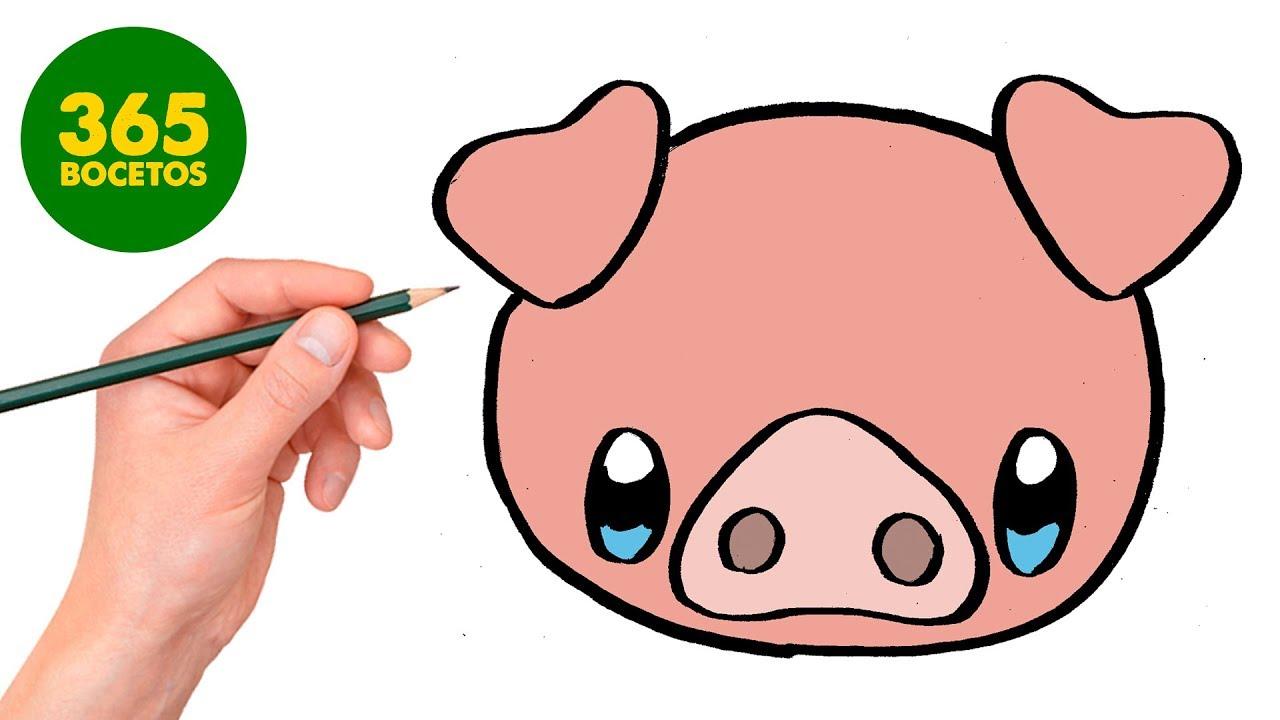 Comment Dessiner Petit Cochon Kawaii Etape Par Etape Dessins