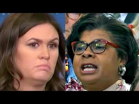 Sarah Sanders gets lrritated when Reporters Grill her on Trump Canceling Eagles Visit