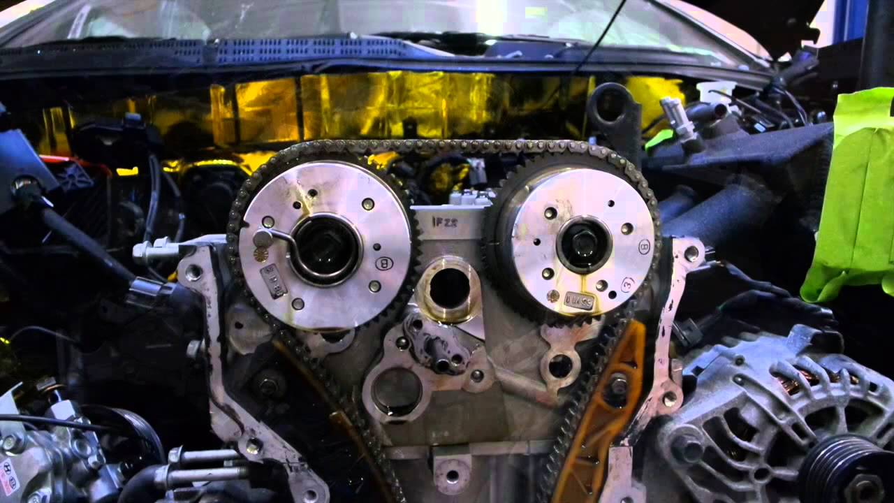 hight resolution of taking out stock camshaft from hyundai genesis coupe 2 0t