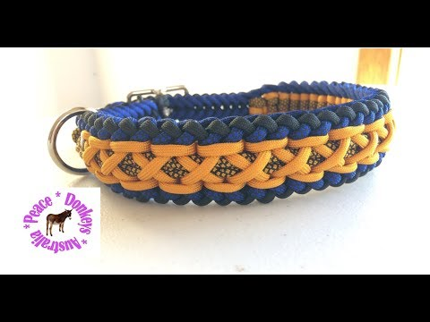 Modified Sanctified Criss Cross - adjustable paracord dog collar