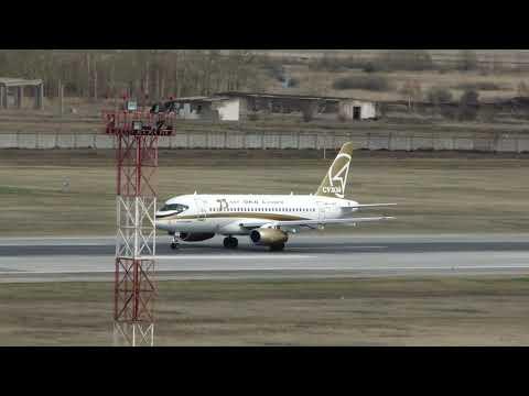 Sukhoi SuperJet 100 95B RA 89007 Sergey Melnikov Tsentr Yug Takeoff RWY25 UNNT