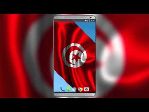 Tunisian Flag Live Wallpaper