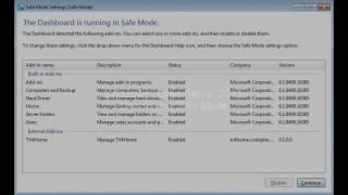 Windows Home Server 2011 - Dashboard Safe Mode
