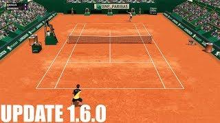 Full Ace Tennis Simulator - UPDATE 1.6.0 - Rafael Nadal vs Roger Federer - PC Gameplay