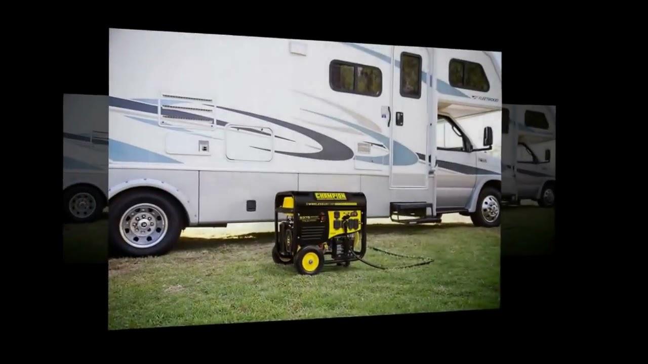 Champion Equipment 100161 7500 Watt Rv Ready Portable Generator With Wireless Remote Start