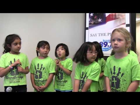 SAY THE PLEDGE with StoneBridge Christian Academy Kindergarten Girls