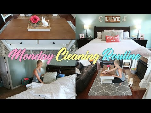 CLEAN WITH ME 2018-MONDAY CLEANING ROUTINE//EXTREME CLEANING MOTIVATION