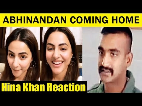 Hina Khan Reaction on Abhinandan Coming Home | Hina Dancing in Happiness | FCN