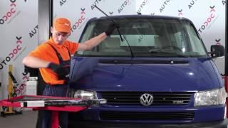 Hoe een ruitenwisserbladen vooraan vervangen op een VW TRANSPORTER T4 [HANDLEIDING]