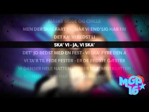 Ida og Lærke - Bar' for vildt | Karaoke | MGP 2016