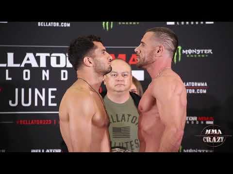Bellator London: Gegard Mousasi vs. Rafael Lovato Jr. Weigh in face off