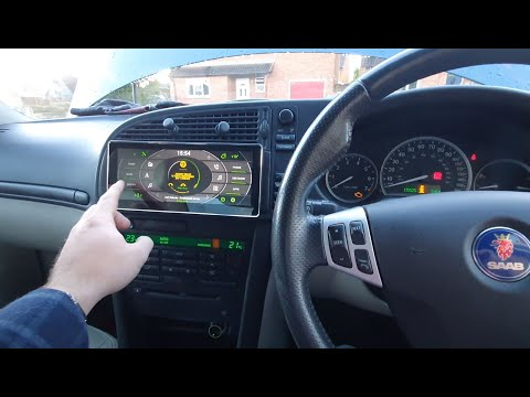 Saab 9-3 2003 – 2006 Touch Screen Aftermarket Radio and Reverse Cam – Fibre Optics and ICM Bypass