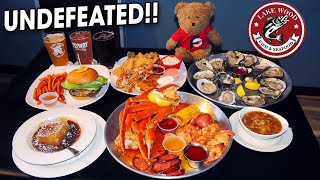 Seafood Overload Challenge w/ Crab Boil, Fried Fish, and Oysters!!
