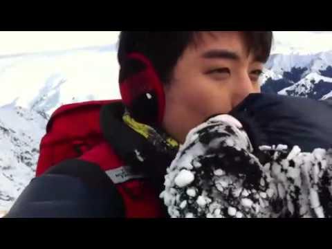 110731 BIGBANG SeungRi's me2day - The North Face CF Shooting! @ New Zealand