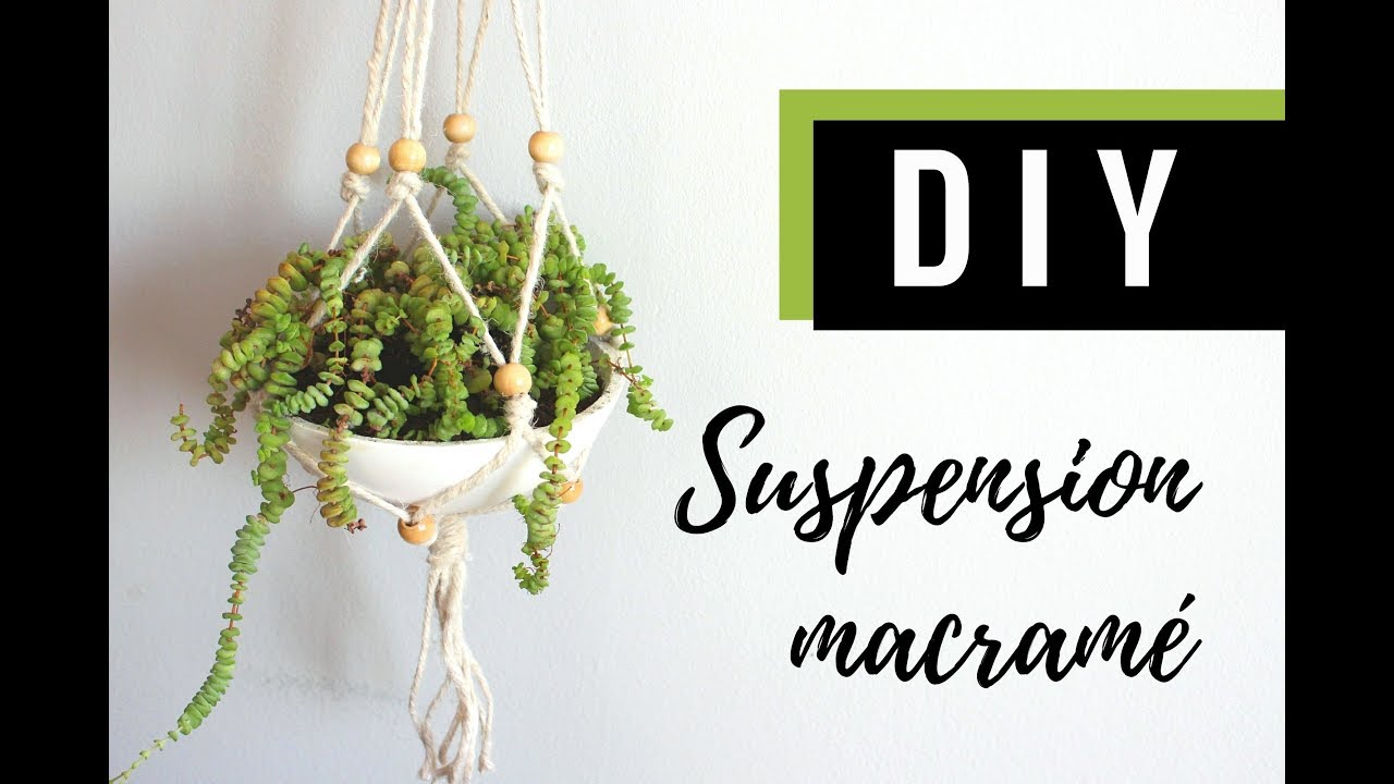 Diy Suspension Pot Macrame Youtube