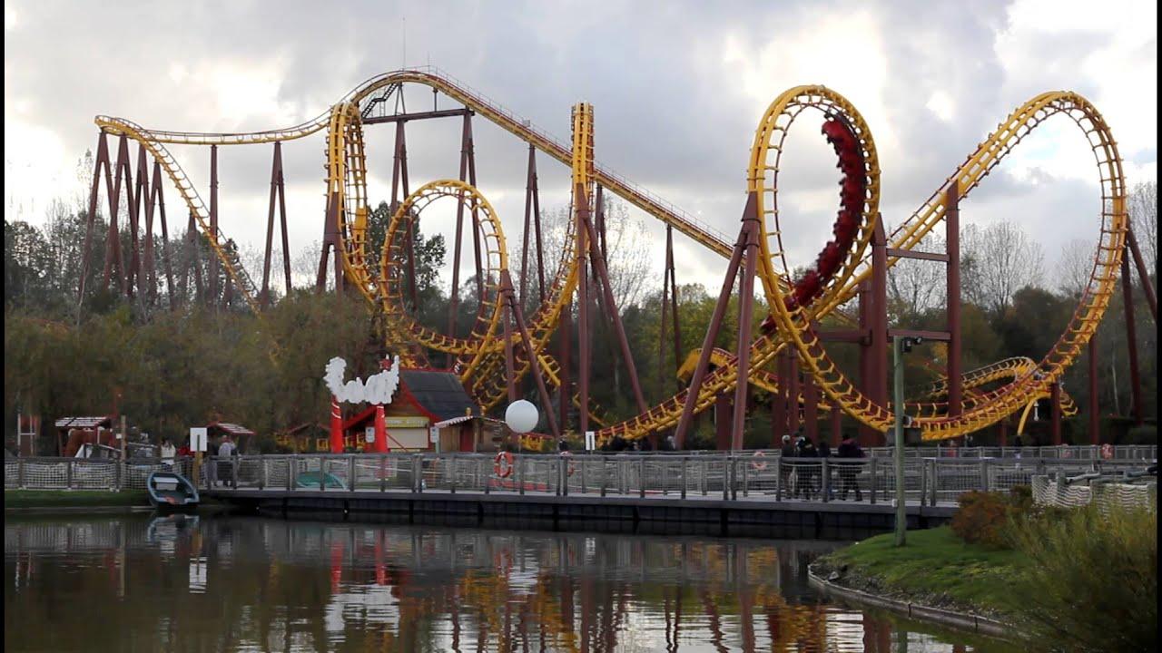 Goudurix. Parc Asterix 2012 Roller Coaster Side View ...