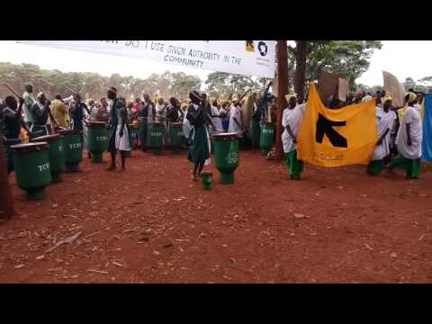 REFUGEES' CULTURAL DANCING IN NDUTA CAMP, TANZANIA