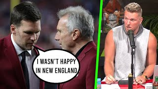 Pat McAfee Reacts To Tom Brady Saying He Wasn't Happy With The Patriots