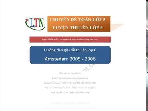 [Đáp án] Đề thi Toán vào lớp 6 trường Amsterdam 2005-2006 – Luyện Thi Nhanh
