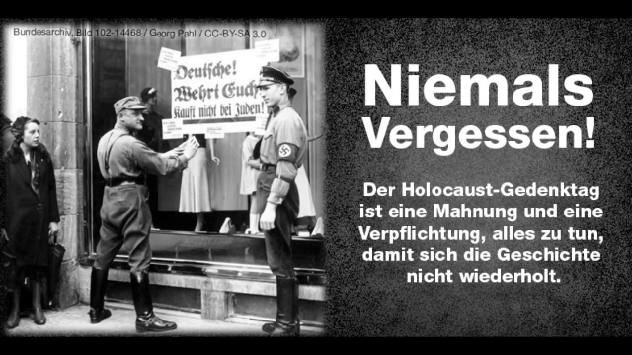 Internationaler Holocaust Gedenktag 2018 Youtube