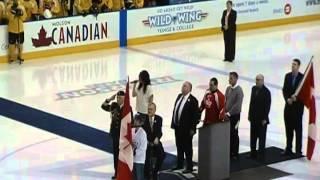 ANASTASIA KAKAGIANNIS - National Anthem at Canada Hockey Tournament for the Blind