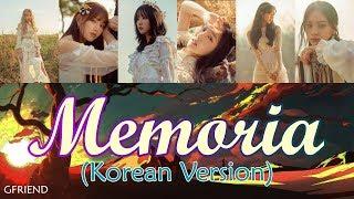 Gfriend (여자친구) - memoria (korean ver.) //color coded lyrics and karaoke effect// eng-han-rom