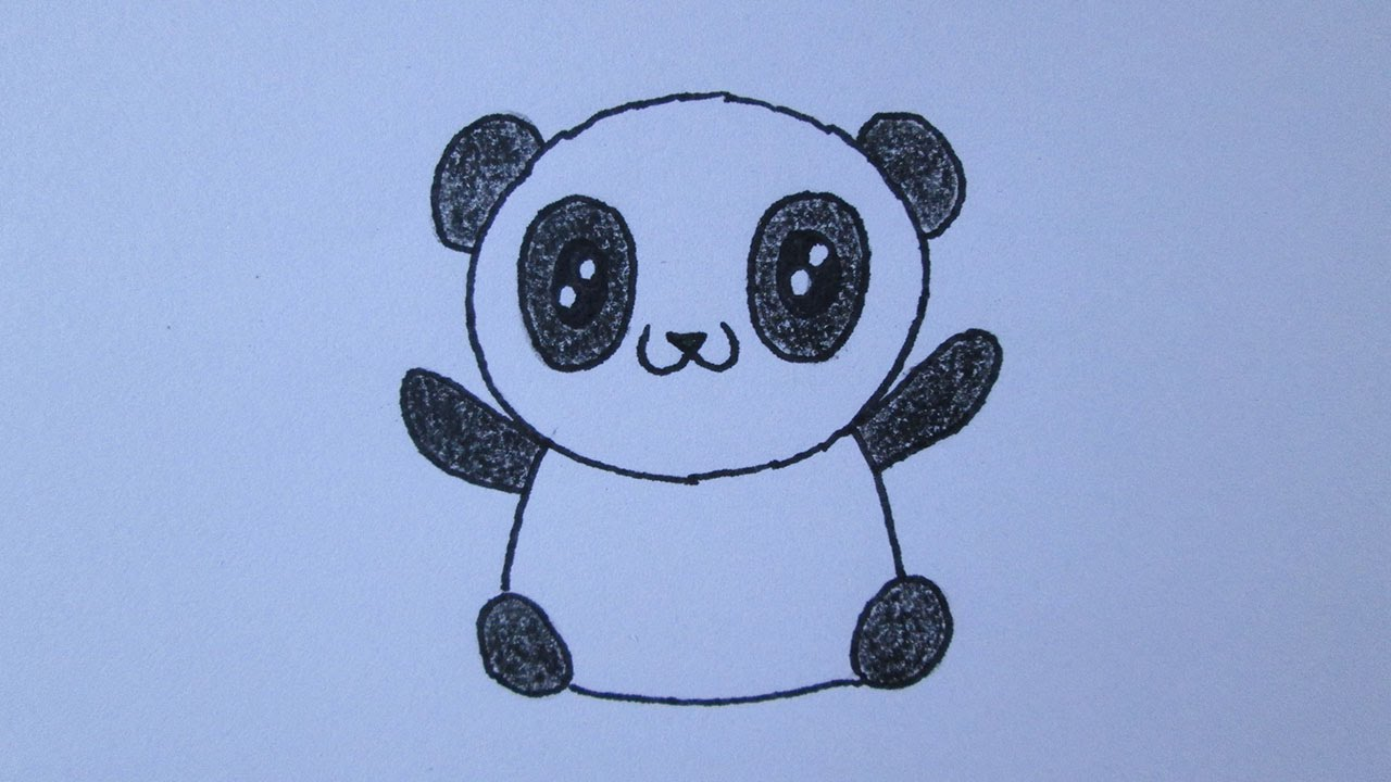 Cmo dibujar un oso panda  YouTube