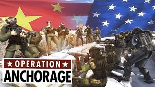 USA Trench VS HUGE Chinese army ! Operation Anchorage - Fallout Mod
