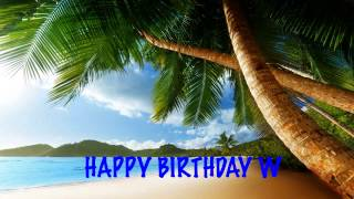 W  Beaches Playas - Happy Birthday