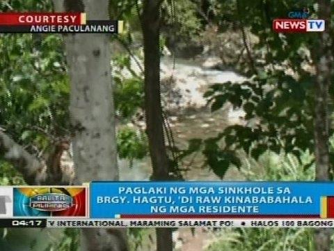 Paglaki ng mga sinkhole sa Negros Oriental, 'di raw kinababahala ng mga residente