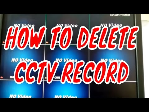 HOW TO DELETE CCTV CAMERA RECORDING FOOTAGE FROM CCTV DVR