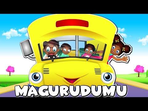 Magurudumu Ya Basi Yazunguka | Wheels On The Bus In Swahili | Nyimbo Za Kitoto Kiswahili | Kids Song
