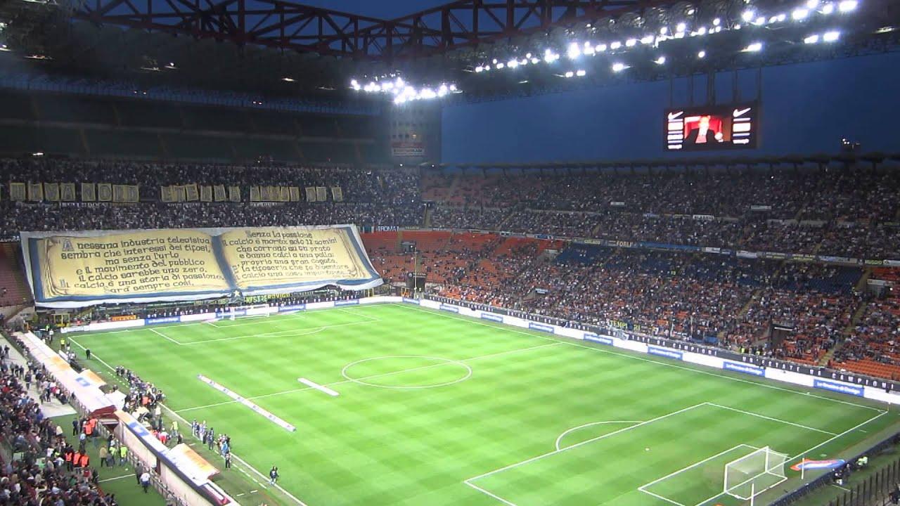 Coreografia curva nord Inter derby Inter-Milan 14/11/2010 - YouTube
