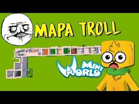 mapa-troll:-nadie-pensÓ-que-serÍa-tan-difÍcil-😰-mikecrack-mini-world-#6