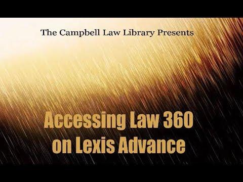 Using Law 360