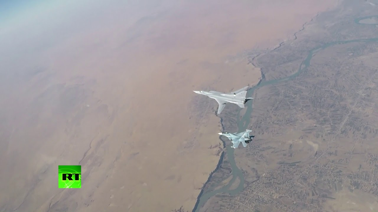 Бомбардировщики Ту-22М3 ВКС РФ поразили опорные пункты и технику боевиков в Сирии