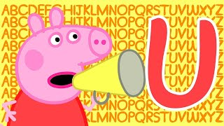 Peppa Pig 🔠 Letter U | Learn the Alphabet with Peppa Pig | ABC Letter Boxes | Learn with Peppa Pig