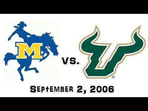 September 2, 2006 - McNeese State Cowboys vs. South Florida Bulls Full Football Game