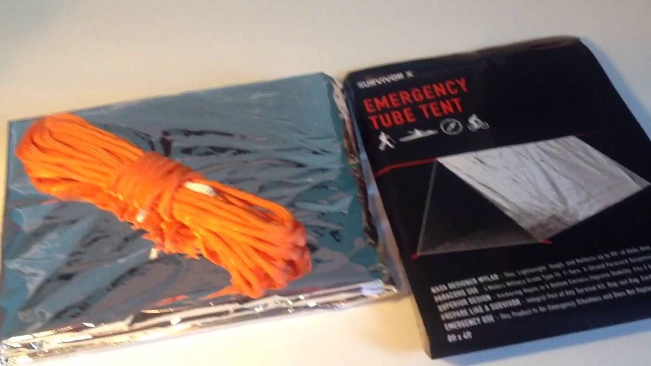 Emergency tube tent & Emergency tube tent - YouTube