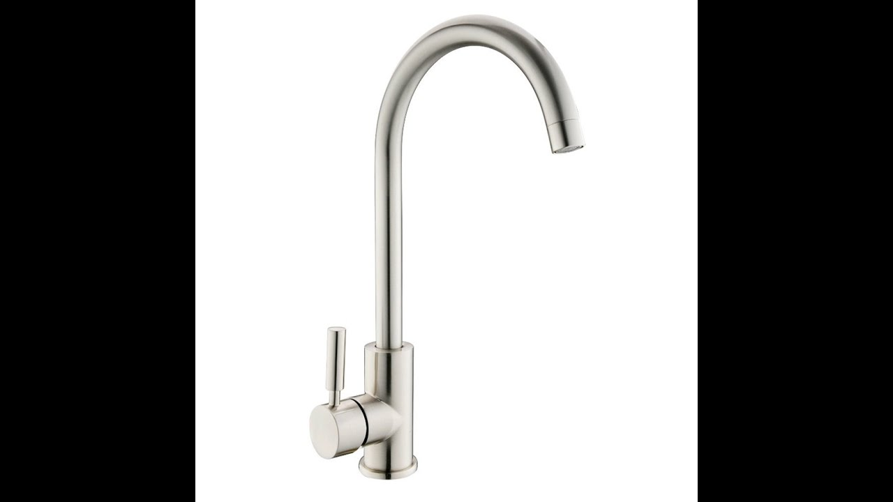 high arch kitchen faucet ufaucet contemporary high arch gooseneck stainless steel 18045