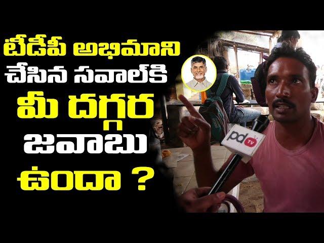 టీడీపీ అభిమాని చేసిన సవాలుకి మీ దగ్గర సమాధానం ఉందా.? Telaprolu Public Talk | PDTV News
