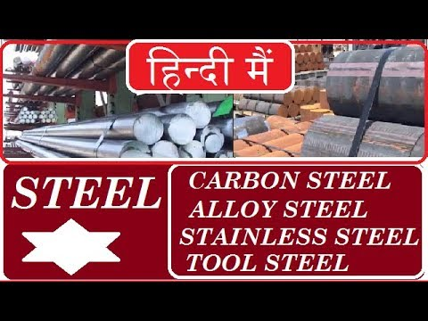 STEELS || TYPE OF STEELS | CARBON STEEL | ALLOY STEEL | STAINLESS STEEL