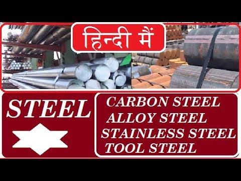 STEELS || TYPE OF STEELS | CARBON STEEL | ALLOY STEEL | STAINLESS STEEL